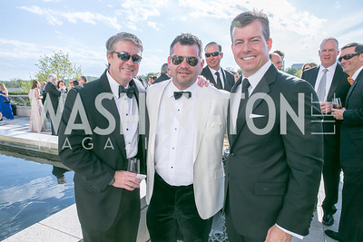Mike Keegan, Marc Weller, Richard Kane. Photo by Alfredo Flores. The Kennedy Center Spring Gala. Kennedy Center. May 4, 2014.