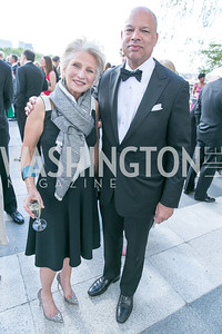 Jane Harman, Secretary of Homeland Security Jeh Johnson. Photo by Alfredo Flores. The Kennedy Center Spring Gala. Kennedy Center. May 4, 2014.