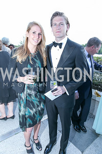 Rachel Haas, Eric Hill. Photo by Alfredo Flores. The Kennedy Center Spring Gala. Kennedy Center. May 4, 2014.