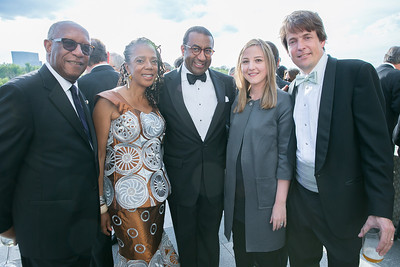 Howard Dodson, Carol Alexander, Eric Motley, Emily Johnson, Robert Johnson. Photo by Alfredo Flores. The Kennedy Center Spring Gala. Kennedy Center. May 4, 2014.