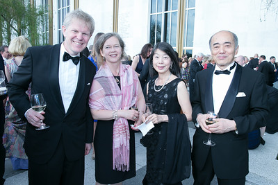 Ambassador Bjorn Lyrall, Emadeleine Lyrall, Nobuko Sasae, Ambassador Kenichiro Sasae. Photo by Alfredo Flores. The Kennedy Center Spring Gala. Kennedy Center. May 4, 2014.
