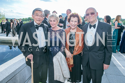 Norm Minet, Deni Minet, Margie Pearson, Richard Lampl. Photo by Alfredo Flores. The Kennedy Center Spring Gala. Kennedy Center. May 4, 2014.