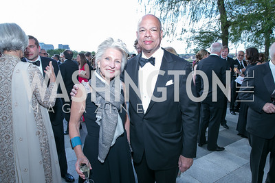 Jane Harman, Secretary of Homeland Security Jeh Johnson. Photo by Alfredo Flores. The Kennedy Center Spring Gala. Kennedy Center. May 4, 2014.
