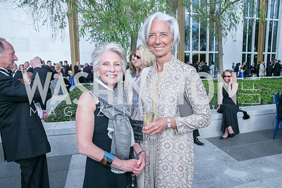 Jane Harman, Christine Lagarde. Photo by Alfredo Flores. The Kennedy Center Spring Gala. Kennedy Center. May 4, 2014