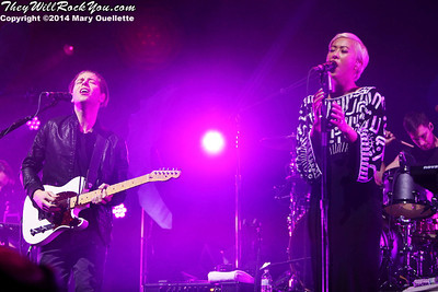 The Naked and Famous perform at the DCU Center in Worcester, MA on March 6, 2014
