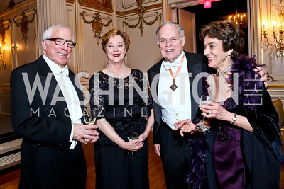 Eric and Harriet Fraunfelter, Ed and Bonnie Wilson. Photo by Tony Powell. The Russian Ball. Cosmos Club. January 11. 2014