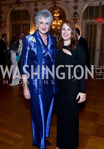 Countess Suzanne Tolstoy, Ball Co-Chair Irina du Quenoy. Photo by Tony Powell. The Russian Ball. Cosmos Club. January 11. 2014