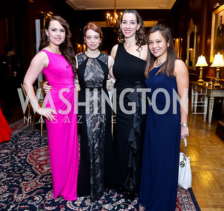 Ksenia Lanteine, Polina Liamtseva, Jackie Rolleri, Sarah Lim. Photo by Tony Powell. The Russian Ball. Cosmos Club. January 11. 2014