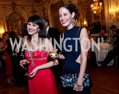 Oksana Tsykala, Hayley Coles. Photo by Tony Powell. The Russian Ball. Cosmos Club. January 11. 2014