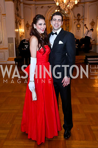 Rachel Cunico, Ghazi Saad. Photo by Tony Powell. The Russian Ball. Cosmos Club. January 11. 2014