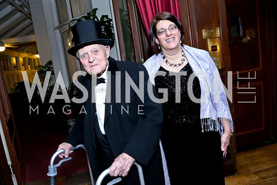 Nicholas Anikeeff and daughter Michele Mullins. Photo by Tony Powell. The Russian Ball. Cosmos Club. January 11. 2014