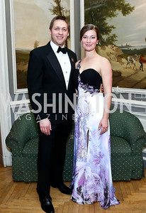Ball Co-Chairs Prince Nicholas Obolensky and Princess Alexandra Obolensky. Photo by Tony Powell. The Russian Ball. Cosmos Club. January 11. 2014