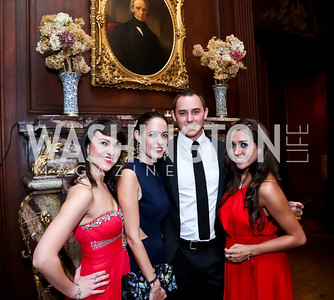 Oksana Tsykala, Hayley Coles, Jordan Wanamaker Javier, Fernanda Lozano. Photo by Tony Powell. The Russian Ball. Cosmos Club. January 11. 2014