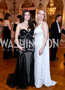 Chelsea Partridge, Alina Sothoron. Photo by Tony Powell. The Russian Ball. Cosmos Club. January 11. 2014