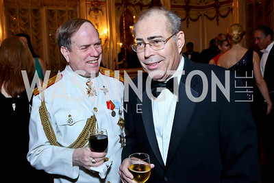 Charles Potter, Greg Moore. Photo by Tony Powell. The Russian Ball. Cosmos Club. January 11. 2014