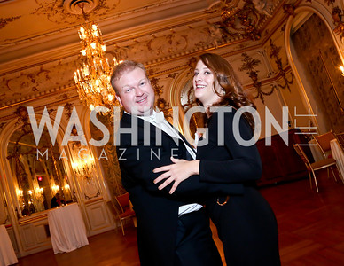 Ball Chairs Paul and Irina du Quenoy. Photo by Tony Powell. The Russian Ball. Cosmos Club. January 11. 2014
