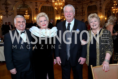 Richard Grondine, Mary Ellen Atkinson, Nick and Nadine Buick. Photo by Tony Powell. The Russian Ball. Cosmos Club. January 11. 2014