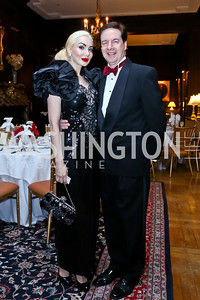 Iona and Paul Lee. Photo by Tony Powell. The Russian Ball. Cosmos Club. January 11. 2014