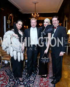 Rhoda Septilici, Ball Chair Paul du Quenoy, Iona and Paul Lee. Photo by Tony Powell. The Russian Ball. Cosmos Club. January 11. 2014