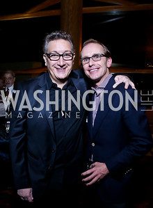 """""""Tallest Tree"""" Director Moises Kaufman, Ted Trimpa. Photo by Tony Powell. """"The Tallest Tree in the Forest"""" Opening Night Dinner. January 16, 2014"""