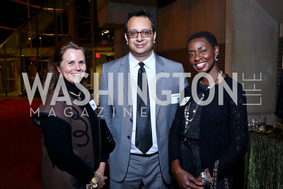 "Carrie Higginbotham,  Arvind Manocha, Rynthia Rost. Photo by Tony Powell. ""The Tallest Tree in the Forest"" Opening Night Dinner. January 16, 2014"