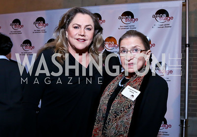 "Kathleen Turner, Justice Ruth Bader Ginsburg. Photo by Tony Powell. ""The Tallest Tree in the Forest"" Opening Night Dinner. January 16, 2014"