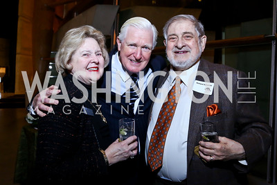 "Arena Stage Board Chair Beth Newburger Schwartz, Rep. Jim Moran, Richard Schwartz. Photo by Tony Powell. ""The Tallest Tree in the Forest"" Opening Night Dinner. January 16, 2014"