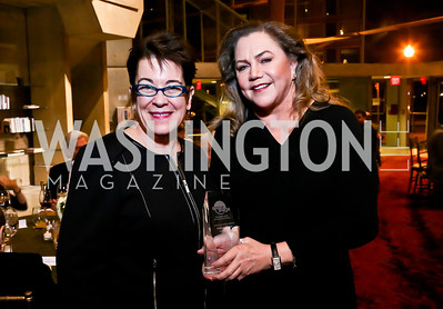 "Molly Smith, Kathleen Turner. Photo by Tony Powell. ""The Tallest Tree in the Forest"" Opening Night Dinner. January 16, 2014"