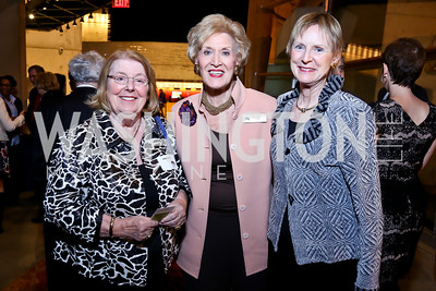 """Amy Millen, Sheila Stampfli, Ann Peel. Photo by Tony Powell. """"The Tallest Tree in the Forest"""" Opening Night Dinner. January 16, 2014"""