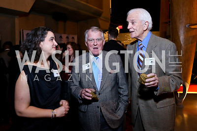 "Erika Floreska, Dick Snowdon, Hank Schlosberg. Photo by Tony Powell. ""The Tallest Tree in the Forest"" Opening Night Dinner. January 16, 2014"
