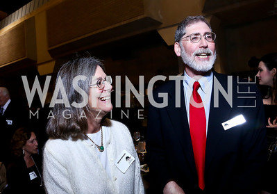 """Janice Newman and Arena Trustee Richard Newman. Photo by Tony Powell. """"The Tallest Tree in the Forest"""" Opening Night Dinner. January 16, 2014"""