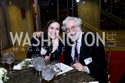 "Batya Feldman and father Elliot Feldman. Photo by Tony Powell. ""The Tallest Tree in the Forest"" Opening Night Dinner. January 16, 2014"