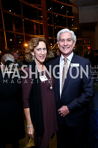 "Peggy Shiffrin and Arena Board President Dave Shiffrin. Photo by Tony Powell. ""The Tallest Tree in the Forest"" Opening Night Dinner. January 16, 2014"