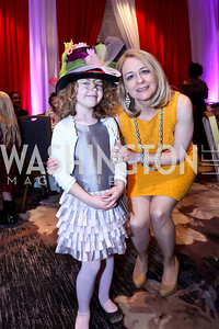 Kara and Kristen Lever. Photo by Tony Powell. 5th Annual Wacky and Whimsical Tea for THEARC. Ritz Carlton. March 9, 2014