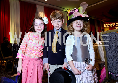 Charlotte Brody, Ian Lever, Kara Lever. Photo by Tony Powell. 5th Annual Wacky and Whimsical Tea for THEARC. Ritz Carlton. March 9, 2014