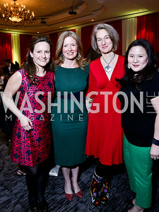 5th Annual Wacky and Whimsical Tea Chairs Elizabeth Engel, Jill White, Sonja DeCarlo, Leah Frelinghuysen. Photo by Tony Powell. 5th Annual Wacky and Whimsical Tea for THEARC. Ritz Carlton. March 9, 2014