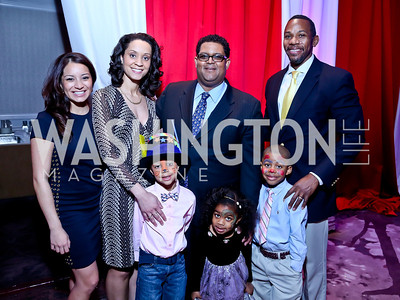 Gabriella Robayo, Dr. Marcee and Jayden White, Edmund Fleet, Rielle, RJ, and Rahsaan Bernard. Photo by Tony Powell. 5th Annual Wacky and Whimsical Tea for THEARC. Ritz Carlton. March 9, 2014