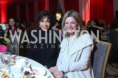 Anne Ashmore Hudson, Kay Kendall. Photo by Tony Powell. 5th Annual Wacky and Whimsical Tea for THEARC. Ritz Carlton. March 9, 2014