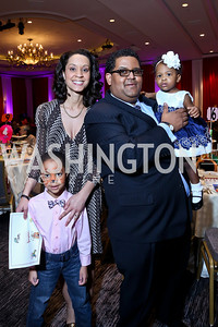 Jayden and Dr. Marcee White, Edmund and Noelle Fleet. Photo by Tony Powell. 5th Annual Wacky and Whimsical Tea for THEARC. Ritz Carlton. March 9, 2014