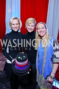 Elizabeth Miller, Brenda Jacobsen, Sloane Menkes. Photo by Tony Powell. 5th Annual Wacky and Whimsical Tea for THEARC. Ritz Carlton. March 9, 2014