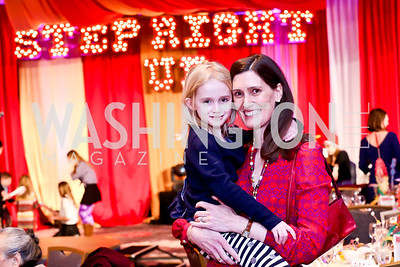 Lucy and Sarah Stettinius. Photo by Tony Powell. 5th Annual Wacky and Whimsical Tea for THEARC. Ritz Carlton. March 9, 2014