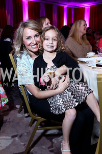 Kim Shur and Sofia Shur. Photo by Tony Powell. 5th Annual Wacky and Whimsical Tea for THEARC. Ritz Carlton. March 9, 2014