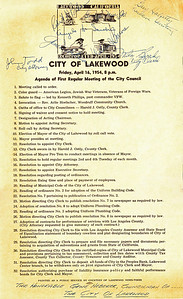 First City Council Meeting, 1954
