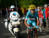 Nibali is suddenly alone alone and closing in on Rodriguez...