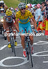 Nibali takes his turn at the front, knowing that Valverde and Pinot have been dropped already...