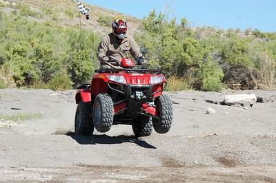 Wes Raymond, our neighbor, just messing around on his ATV.
