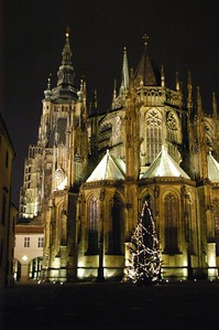 The church in the middle of the Prague castle. We originally thought this was the castle when we saw it in the distance, but the castle wraps around it.