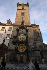 This is Prague's famous astronomical clock. It makes an amazing impression when you first see it through the narrow streets.