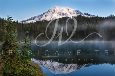 Foggy Morning Mount Rainier Sunrise Travel Photographer Jessica Veltri