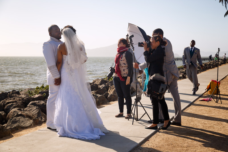 Wedding photography on Treasure Island.